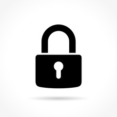 padlock icon on white background