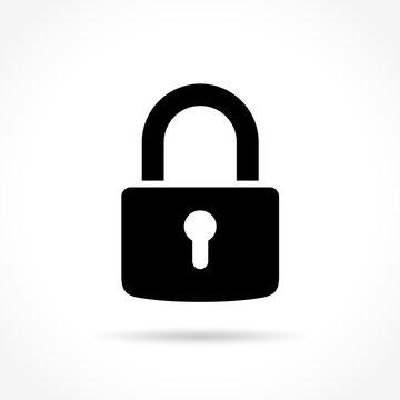 padlock icon on white background