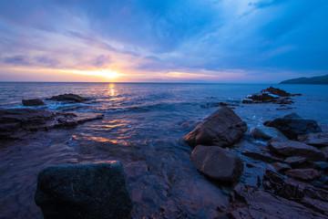 Beautiful seascape, sunset and coast.