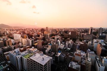 Zelfklevend Fotobehang Diepbruine 北海道 札幌 都市風景