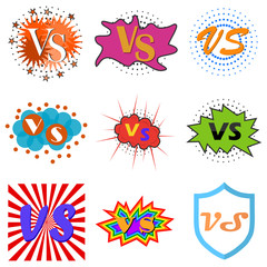Versus or vs confrontation labels