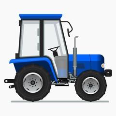 Editable Farm Tractor Vector Illustration