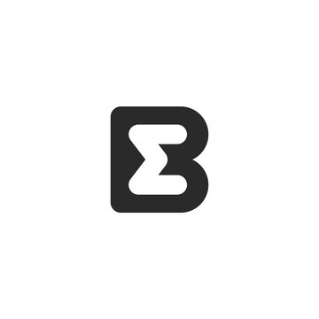 Monogram logo made from black letters B and M or W