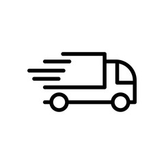 Thin line delivery icon