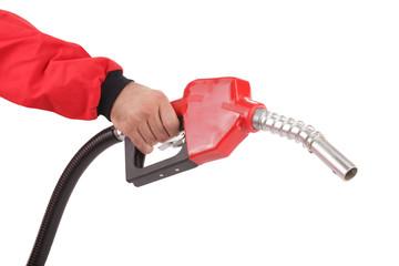 Gasoline pistol pump fuel nozzle
