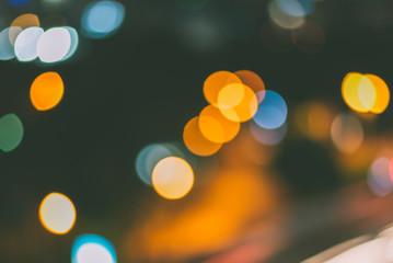 Fotomurales - City night light blur bokeh background