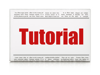 Learning concept: newspaper headline Tutorial