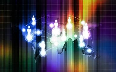 World communication colorful background