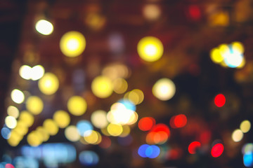 City night light bokeh and light blurred background