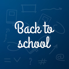 Back to School poster design. Education background. Back to school vector