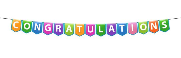 Congratulations banner. Vector illustration