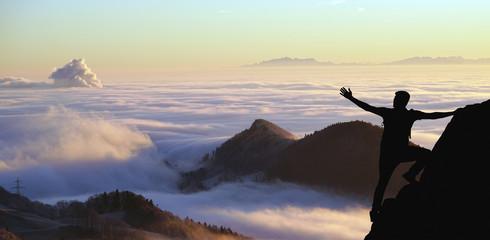 Adventurer watching the clouds
