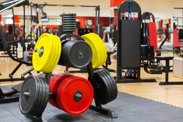 Equipments in the gym