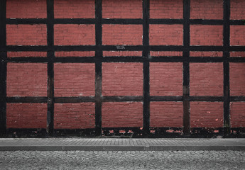 Fototapete - Old urban background with copy space