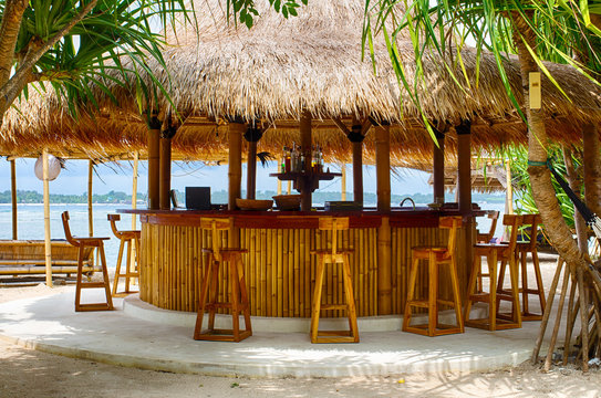 Beach bar, Beach, Indian ocean, Indonesia, GILI air.