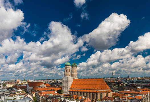 München Panorama Frauenkirche