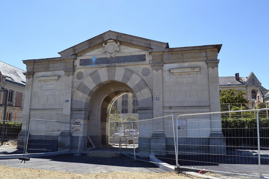 The entrance of the largest prison for women in France (Rennes, Brittany)