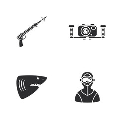 four diving icons