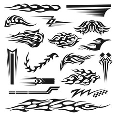 Vinyl decoration black graphic collection