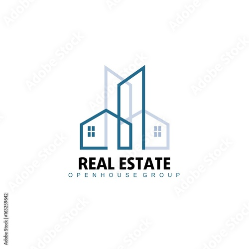 Logo template real estate apartment condo house for Modern house logo