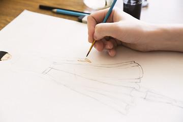 girl drawing fashion women clothes