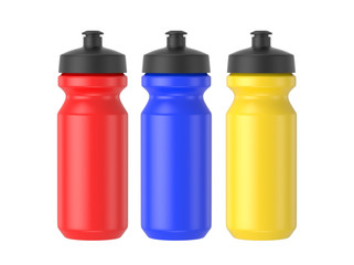 plastic water bottle isolated white background, 3D rendering