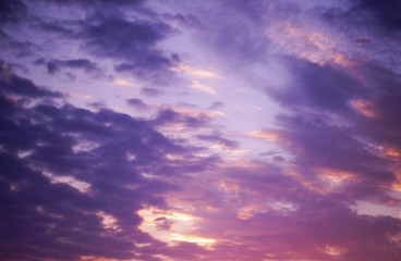 Abstract and dramatic clouds background