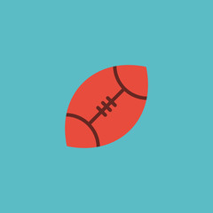 Flat Icon Rugby Element. Vector Illustration Of Flat Icon American Football  Isolated On Clean Background. Can Be Used As Ball, Football And Rugby Symbols.