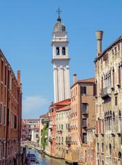 Fototapete - Venice - Falling campanile in Venice