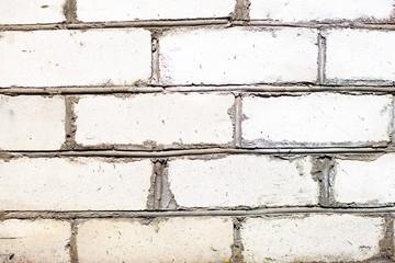 Background of bricks. white brick wall
