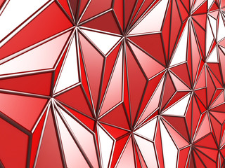 Red Chaotic Poligon Pattern Background