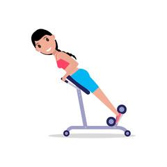 Vector girl swinging back training apparatus