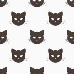Cat head seamless pattern.