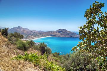 View on the Bay of Plakias on Crete, Greece