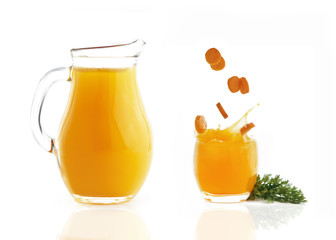 carrots with juice isolated