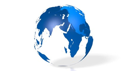 Search photos 3d world map 012 3d blue earth globe world map with all continents europe asia gumiabroncs Choice Image