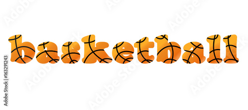 word basketball vector illustration stock image and royalty free