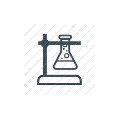 Vector lab bulb Icon, can be used for web and mobile design