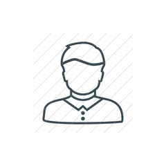 User Icon in trendy flat style isolated on grey background. User silhouette symbol for your web site design, logo, app, UI. Vector illustration, EPS10