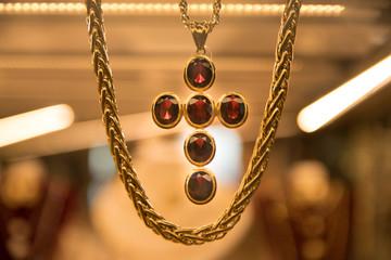 Ruby Cross in a Jewelry