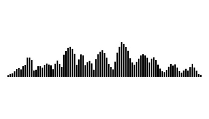 equalizer music sound wave vector symbol icon design.