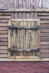 Vintage wooden window textured design