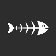 Fish skeleton vector pictogram