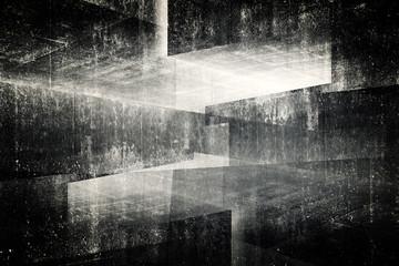 3d betonowe wnętrze abstrakcja