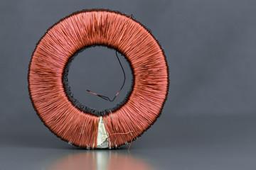 Kupferspule als Kupferschrott zur Rohstoffgewinnung