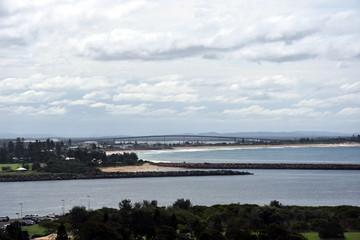 Bridge across the North Channel Hunter River to Stockton and Anna bay (Newcastle, NSW, Australia)