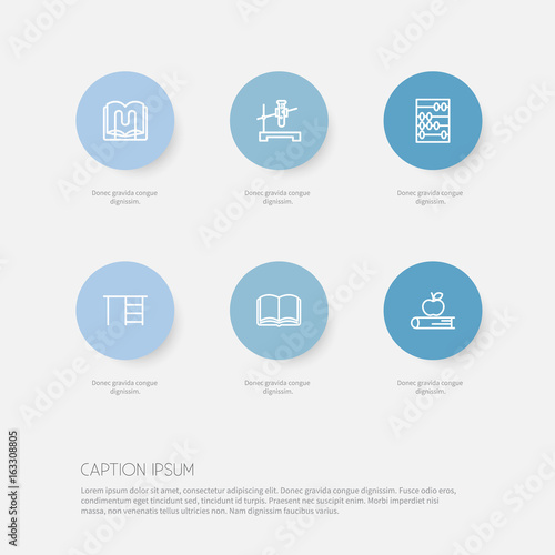 Set Of 6 Editable Science Icons Includes Symbols Such As Apple
