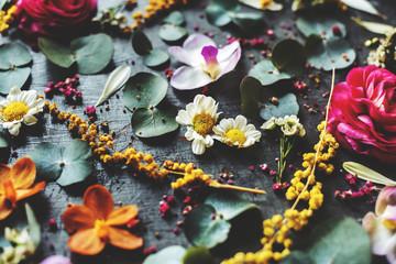 Aluminium Prints Floral Floral leaves romance decoration freshness lush