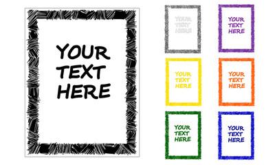 Hand drawn vector text frame