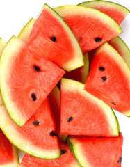 Watermelon slice isolated on white background